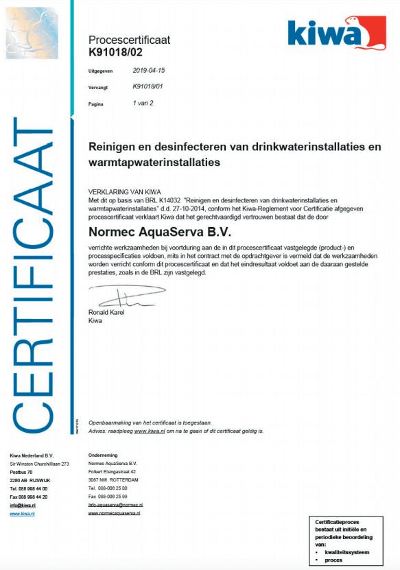 BRL – K14032 – K91018 certificaat