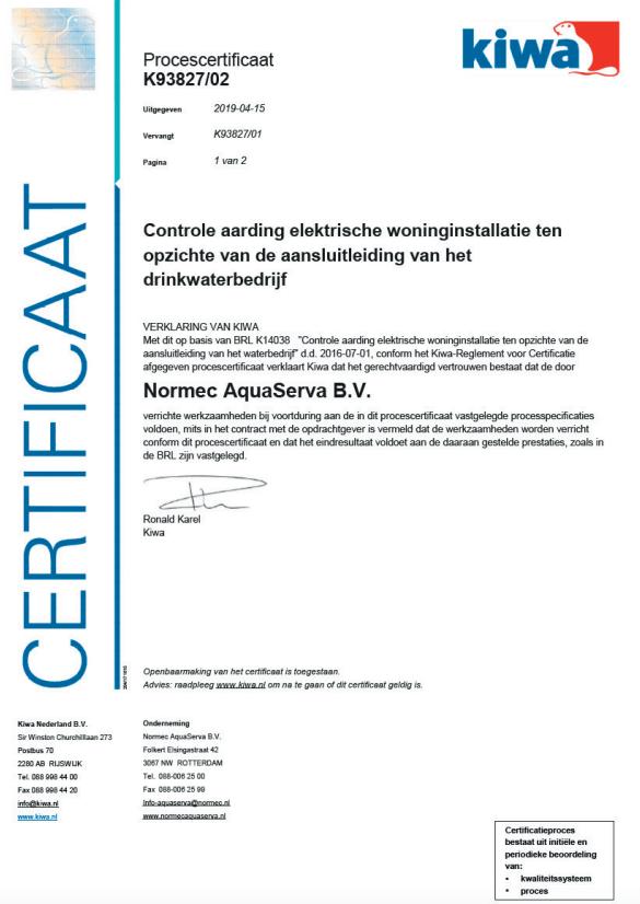 BRL – K14036 – K93827 certificaat