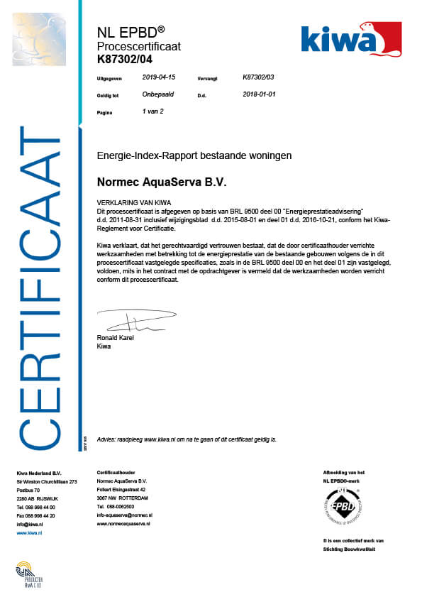 normec-aquaserva-certificaat-BRL-9500-NL-EPBD